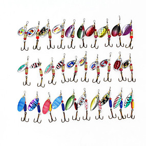 ieftine Momeală Pescuit-30 pcs Δόλωμα Momeală Dură Buzzbait & Momeli spinnerbait Pachete momeală Momeli filator MetalPistol Scufundare Scufundare Rapidă Pescuit mare Aruncare Momeală Filare / Pescuit de Apă Dulce
