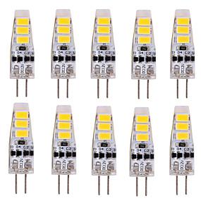 billige LED-lamper med G-sokkel-ywxlight® 10pcs g4 2w 200lm 5730smd ledet bi-pin lys varm hvid cool hvid led majs pære lysekrone lampe dc 12v
