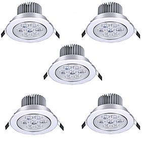 ieftine Becuri LED Încastrate-HRY 5pcs 7 W Spoturi LED LED Ceilling Light Recessed Downlight 7 LED-uri de margele LED Putere Mare Decorativ Alb Cald Alb Rece 85-265 V / RoHs / 90