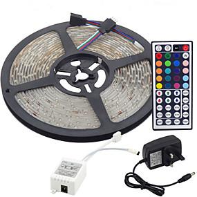 ieftine Benzi Lumină LED-Benzi de 5m flexibile led / seturi de lumini / lumini de bandă led led 3528 smd 8mm telecomanda rgb / rc / cuttable / dimmable 100-240 v / linkable / autoadeziv / schimbătoare de culori / ip44