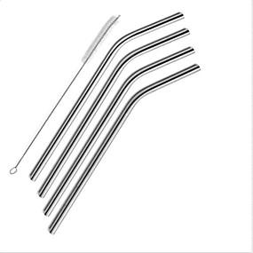ieftine Bucătărie & Masă-4 pack ofstraws din oțel inoxidabil de băut set perie de unică folosință de curățare pentru uscător de rufe yeti