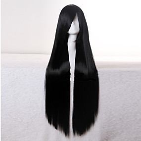 cheap Makeup & Nail Care-top quality super long straight black 1b color woman s fashion synthetic hair wigs freeshipping