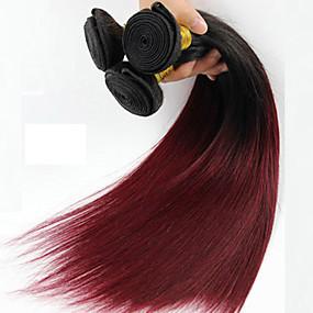 levne Make-up & Péče o nehty-1 Bundle Brazilské vlasy Volný Klasický 10A Panenské vlasy Tónované 16-24 inch Tónované Lidské vlasy Vazby Rozšíření lidský vlas / Rovné