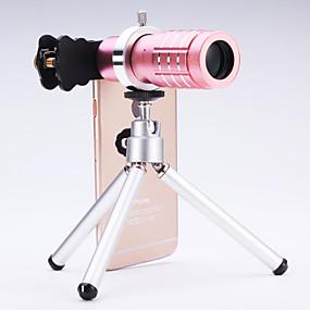 billige Smartphone-fotografering-universal 12 × teleskop linse til mobiltelefoner iphone / samsung sølv / guld / rosa / sort