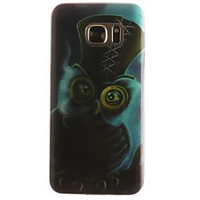 Недорогие Чехлы и кейсы для Galaxy S5 Mini-Кейс для Назначение SSamsung Galaxy S7 edge / S7 / S6 edge С узором Кейс на заднюю панель Животное Мягкий ТПУ