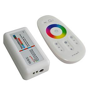 Недорогие RGB контроллеры-jiawen 2.4g rgb led контроллер сенсорный экран светодиодная система управления полосой (DC 12-24v)