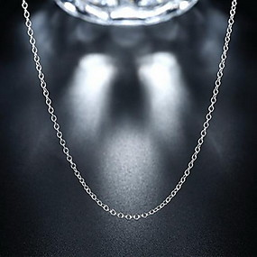 1bde54755ded abordables  0.99 Joyería de moda-Unisex Collares de cadena Cadenas Plata de  ley Barato Delicado