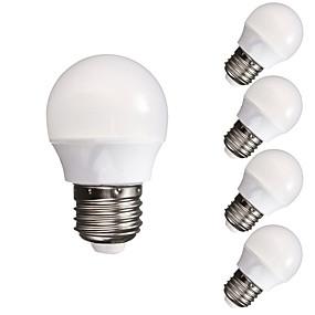ieftine Becuri LED Glob-5pcs 3 W Bulb LED Glob 300-350 lm E26 / E27 A60(A19) 10 LED-uri de margele SMD 5730 Intensitate Luminoasă Reglabilă Decorativ Alb Cald Alb Rece 220-240 V 110-130 V / 5 bc / RoHs / CCC