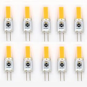 abordables Luces LED de Doble Pin-Luces LED de Doble Pin 400-500 lm G4 T 1 Cuentas LED COB Impermeable Decorativa Blanco Cálido Blanco Fresco Blanco Natural 220-240 V 110-130 V / 10 piezas / Cañas / CE