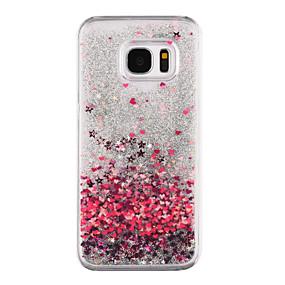 halpa Galaxy S -sarjan kotelot / kuoret-Etui Käyttötarkoitus Samsung Galaxy Samsung Galaxy S7 Edge Virtaava neste / Läpinäkyvä / Kuvio Takakuori Sydän Kova PC varten S8 Plus / S8 / S7 edge