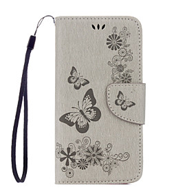 Недорогие Чехлы и кейсы для Galaxy S5 Mini-Кейс для Назначение SSamsung Galaxy S7 edge / S7 / S6 edge Кошелек / Бумажник для карт / со стендом Чехол Бабочка Мягкий Кожа PU
