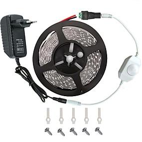 ieftine Benzi Lumină LED-KWB 5m Bare De Becuri LED Rigide 300 LED-uri 3528 SMD Alb Cald / Alb / Roșu Telecomandă / Ce poate fi Tăiat / Intensitate Luminoasă Reglabilă 100-240 V / De Legat / Potrivite Pentru Autovehicule