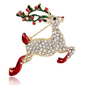 abordables Bijoux de Noël-Femme Broche Mode Broche Bijoux Rouge Pour Soirée Quotidien Décontracté