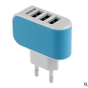 billige Normale opladere-Oplader til hjemmet USB oplader US Stik / EU Stik Hurtig opladning / Multiporte 3 USB-porte 3.1 A for