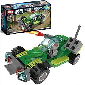 olcso Játékok & hobbi-GUDI Zenés akciófigura Építőkockák Katonai blokkok Tank Katona összeegyeztethető Legoing Fiú Lány Játékok Ajándék / Fejlesztő játék