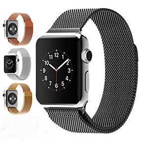 billige Apple Watch Series 3/2/1-milanese loop armbånd rustfrit stål band til æble watch serie 1/2/3 42mm 38mm armbåndsstrop til iwatch serie 4 40mm 44mm