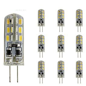 povoljno LED svjetla s dvije iglice-10 kom 1,5w tanak G4 vodio kristalnu žarulju dvostruki 24 smd 3014 dc 12v zeleno plavo crveno svjetlo