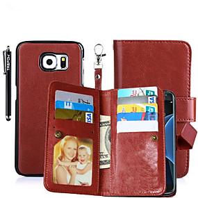 voordelige Galaxy S6 Edge Plus Hoesjes / covers-hoesje Voor Samsung Galaxy S8 Plus / S8 / S6 edge plus Portemonnee / Kaarthouder / met standaard Volledig hoesje Effen Hard PU-nahka