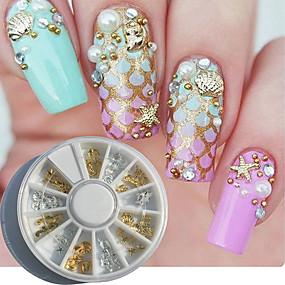 levne Make-up & Péče o nehty-1 pcs Sada na nehty nail art manikúra pedikúra Denní Kovový / Módní