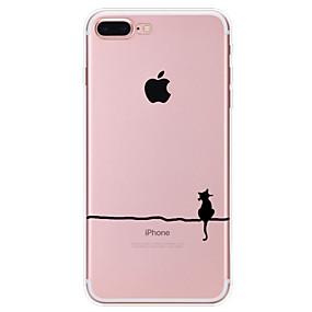 abordables Coques d'iPhone-cas pour apple iphone xr xs xs max motif de couverture arrière chat tpu souple pour iphone x 8 8 plus 7 7plus 6s 6s plus se 5 5s