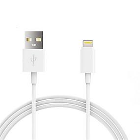 abordables Câbles & Adaptateurs d'iPhone-USB 2.0 / Eclairage Câbles / Câble 1m-1.99m / 3ft-6ft Normal Plastique / PVC Adaptateur de câble USB Pour iPad / Apple / iPhone