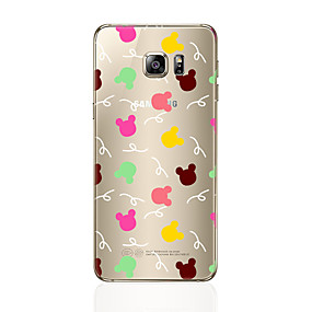 voordelige Galaxy S6 Edge Plus Hoesjes / covers-hoesje Voor Samsung Galaxy S7 edge / S7 / S6 edge plus Transparant / Patroon Achterkant dier Zacht TPU