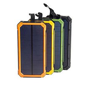 halpa Virtapankit-aurinkoenergia pankki vedenpitävä 16000mah aurinko laturi dual usb-portit ulkoinen laturi powerbank älypuhelimen kanssa led-valo