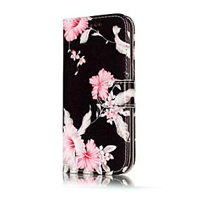 voordelige Galaxy A5(2016) Hoesjes / covers-hoesje Voor Samsung Galaxy A3 (2017) / A5 (2017) / A5(2016) Portemonnee / Kaarthouder / met standaard Volledig hoesje Bloem Hard PU-nahka