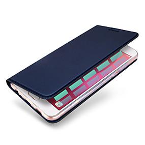 voordelige Galaxy A8 Hoesjes / covers-hoesje Voor Samsung Galaxy A3 (2017) / A5 (2017) / A7 (2017) Kaarthouder / Flip / Magnetisch Volledig hoesje Effen Hard PU-nahka