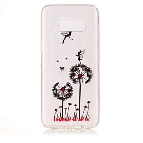 voordelige Galaxy S7 Edge Hoesjes / covers-hoesje Voor Samsung Galaxy S8 Plus / S8 / S7 edge IMD / Transparant / Patroon Achterkant Paardebloem Zacht TPU
