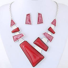 billige Smykker & Ure-Dame Smykkesæt Damer, Mode, Euro-Amerikansk Omfatte Rød / Blå Til Fest Daglig
