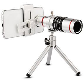 Недорогие Камера мобильного телефона-Высококачественные 18x зум оптический телескоп телеобъектив комплект объектив камеры со штативом для iphone 6 7 samsung s7 xiaomi mi6