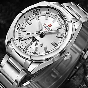 b86f758e849f abordables Relojes de Vestir-Hombre Reloj de Pulsera Japonés Acero  Inoxidable Negro   Plata