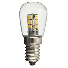 billige Daglige tilbud-hkv® led pære e14 1w 2835smd 24led glasskærm 360 graders vinkel belysning varm kølig hvid til symaskin køleskab