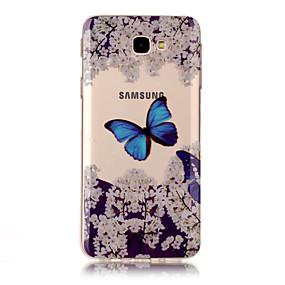 voordelige Galaxy J5 Hoesjes / covers-hoesje Voor Samsung Galaxy J7 Prime / J7 (2016) / J7 IMD / Transparant / Patroon Achterkant Vlinder Zacht TPU