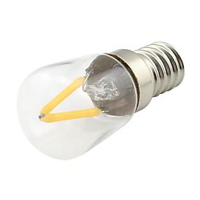 Χαμηλού Κόστους Λαμπτήρες LED με νήμα πυράκτωσης-1pc 2 W LED Λάμπες Πυράκτωσης 170 lm E14 2 LED χάντρες COB Θερμό Λευκό 220 V / 1 τμχ