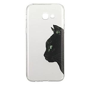 voordelige Galaxy A5(2016) Hoesjes / covers-hoesje Voor Samsung Galaxy A3 (2017) / A5 (2017) / A5(2016) Patroon Achterkant Kat / dier Zacht TPU