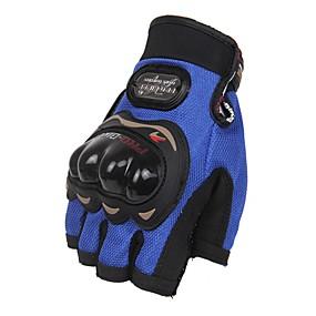 voordelige Motorhoezen-Activiteit/Sport Handschoenen Unisex Fietshandschoenen Wielrenhandschoenen Beschermend Vingerloos Leder Fietshandschoenen