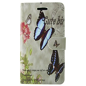 Недорогие Чехлы и кейсы для Galaxy S5 Mini-Кейс для Назначение SSamsung Galaxy S8 / S7 / S6 edge Кошелек / Бумажник для карт / со стендом Чехол Бабочка / Цветы Твердый Кожа PU