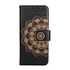 voordelige Galaxy S7 Edge Hoesjes / covers-hoesje Voor Samsung Galaxy S8 Plus / S8 / S7 edge Portemonnee / Kaarthouder / Flip Volledig hoesje Mandala / Bloem Hard PU-nahka