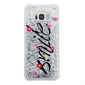 olcso Galaxy S tokok-Case Kompatibilitás Samsung Galaxy S8 Plus / S8 Folyékony Fekete tok Szó / bölcselet Puha TPU mert S8 Plus / S8 / S7 edge