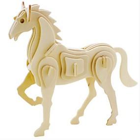 olcso Játékok & hobbi-3D építőjátékok Fejtörő Wood Model Állatok DIY Fa Gyermek Felnőttek Uniszex Ajándék