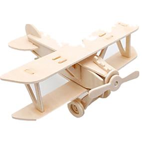 olcso Játékok & hobbi-Muwanzi 3D építőjátékok Fejtörő Wood Model Repülőgép Harcos Népszerű épület DIY Fa Klasszikus Uniszex Játékok Ajándék