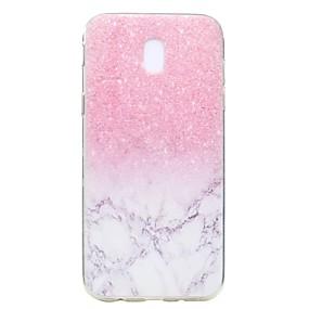voordelige Galaxy Core Prime Hoesjes / covers-hoesje Voor Samsung Galaxy J7 Prime / J7 (2017) / J7 (2016) Transparant / Patroon Achterkant Marmer Zacht TPU