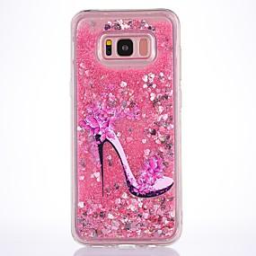 voordelige Galaxy S7 Hoesjes / covers-hoesje Voor Samsung Galaxy S8 Plus / S8 / S7 edge Stromende vloeistof / Transparant / Patroon Achterkant Bloem Zacht TPU