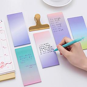 billige Daglige tilbud-1 stk gradientfarge selvklebende notater 40 side (tilfeldig farge)