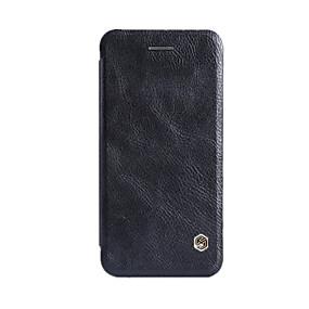 levne iPhone pouzdra-Carcasă Pro Apple iPhone 6 Plus / iPhone 6 Pouzdro na karty / Flip Celý kryt Jednobarevné Pevné Pravá kůže pro iPhone 8 Plus / iPhone 8 / iPhone 7 Plus