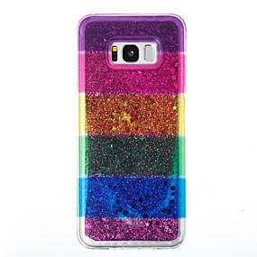voordelige Galaxy S7 Hoesjes / covers-hoesje Voor Samsung Galaxy S8 Plus / S8 / S7 edge Stromende vloeistof Achterkant Glitterglans Zacht TPU