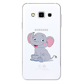 voordelige Galaxy A5(2016) Hoesjes / covers-hoesje Voor Samsung Galaxy A3 (2017) / A5 (2017) / A5(2016) Transparant / Patroon Achterkant dier / Cartoon / Olifant Zacht TPU