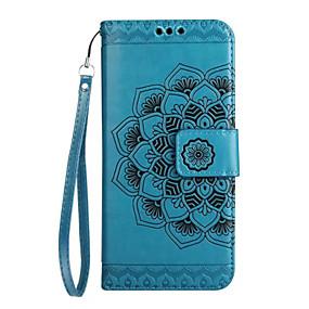 voordelige Galaxy J5(2017) Hoesjes / covers-hoesje Voor Samsung Galaxy J7 (2017) / J5 (2017) / J3 (2017) Portemonnee / Kaarthouder / Flip Volledig hoesje Mandala / Bloem Hard PU-nahka